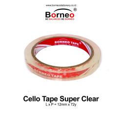 Borneo Cello Tape / Selotip Super Clear 12 mm x 72 Yard