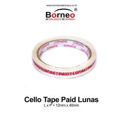Borneo Cello Tape / Selotip Paid Lunas 12 mm x 40 m