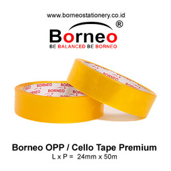 Borneo Cello Tape / Selotip Premium 24 mm x 50 m