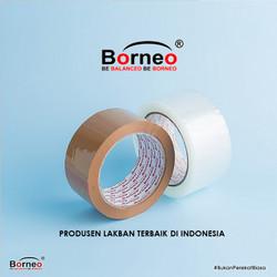 Borneo OPP Lakban Bening / Coklat 48 mm x 90 Yard