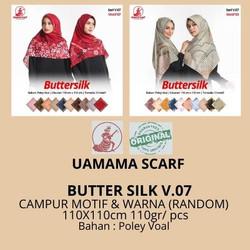 Kerudung BUTTER SILK by Umama Scarf RANDOM Warna dan Motif ecer grosir