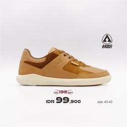 Aerostreet 40-43 Oscar Coklat Muda - Sepatu Sneakers Casual Pria