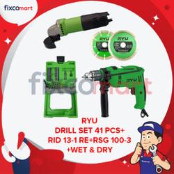 RYU Paket Murah Set Gerinda 4 Inc Bor 13 mm Mata Bor 41 + 2 Pcs