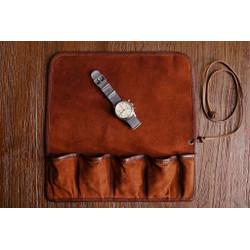 Leather Watch Roll Fox