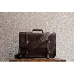 Alpha 15 Espresso Briefcase