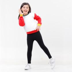 Hoodieku Kids x Popiro   Sweater Red Sleeve