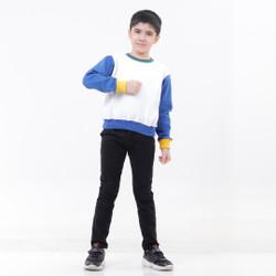 Hoodieku Kids x Popiro   Sweater Blue Sleeve