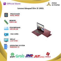 Lenovo Ideapad Slim 3i 14IGL N4020 4GB 256ssd W10+OHS 14.0 RED
