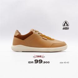 Aerostreet 40-43 Arthur Coklat Muda - Sepatu Sneakers Casual Pria