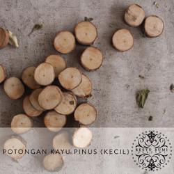 Wood Slice - Potongan Kayu Pinus Kecil - Slice Chips - Wooden Craft