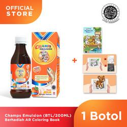 Champs Emulsion 200ML Berhadiah AR Coloring Book ( 1 Botol )