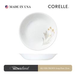 CORELLE SILVER CROWN Soup Plate 22cm