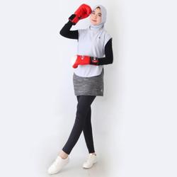 HITJAB - Rompi Vest Luaran Hijab Sport Olahraga Utk Lari Senam Sepeda