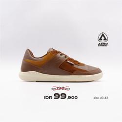 Aerostreet 40-43 Oscar Coklat - Sepatu Sneakers Casual Aero Street