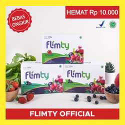 Paket GOLD (2 box) Flimty Fiber Pelangsing Badan All in One Detox