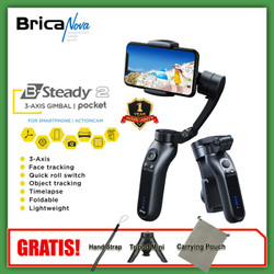 Brica B-Steady 2P - BSteady 2P - 2 P Pocket 3-AXIS Smartphone Gimbal