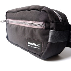 Wanderlust Nooga Hippack Hip Pack Selempang Waistbag Sling Black Grey