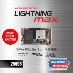 NVME M.2 256GB 2242 MIDASFORCE LIGHTNING MAX SSD NVMe M.2 PCIe Gen3 x4