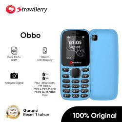 Strawberry ST288 OBBO HP JADUL Dual SIM MP3 Radio HP Murah Garansi