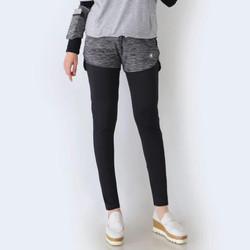 HITJAB Legging + Celana Pendek 2 In 1 Set Sport Olahraga Yoga Tennis