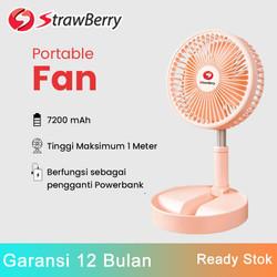 Strawberry SF01 Portable Foldable 2-in-1 Desktop Floor Fan Tinggi 1 M