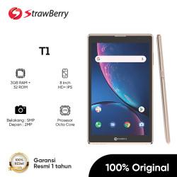 Strawberry T1 Tablet 8 Inci ROM/RAM 3GB/32GB 4G 4000 mAh Garansi Resmi