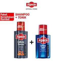 Paket Alpecin Hair Fall Kit - C1 Shampoo 250ml + Caffeine Tonik Pria
