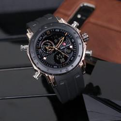 swiss army terbaru jam tangan analog digital pria strap rubber - hitam