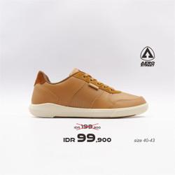 Aerostreet 40-43 Evander Coklat Muda - Sepatu Sneakers Casual Pria