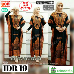 Long Dress Super Jumbo Longdres Lowo Borobudur Kode CX-A080