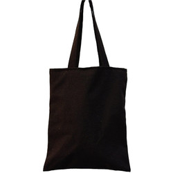 Tote Bag Canvas Hitam Polos