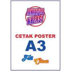 Cetak Poster / Pamflet Ukuran A3