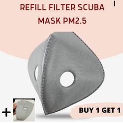 Refill Filter Scuba Mask PM 2.5 Dual Filter Valve - Refill KN95