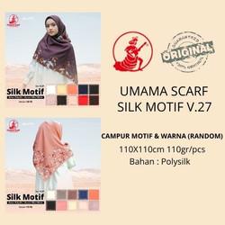 Jilbab segiempat SILK MOTIF umama scarf CAMPUR MOTIF & WARNA termurah