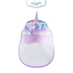 Wigglo Sweet Purple Unicorn Cap With Face Shield