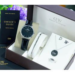 Jam tangan full set Komplit ACC wanita Fashion Formal dan kasual
