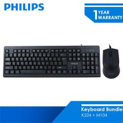 Philips Paket Bundling Keyboard K224 + M104
