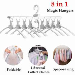 Gantungan hanger Baju Jemuran Lipat Portable 8in1 Magic Hanger 8 in 1
