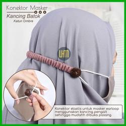 Tali Pengikat Masker Earloop Katun Ombre Kancing Batok Premium