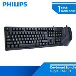 Philips Paket Bundling Keyboard K214 + M104