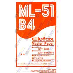Master Paper Elefax / Kertas Master Elefax ML-51 ukuran B4