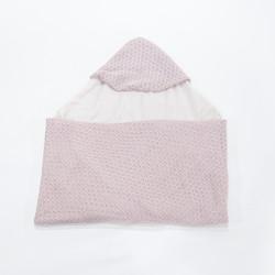 hooded blanket - Knitted (selimut rajut bertopi untuk bayi)