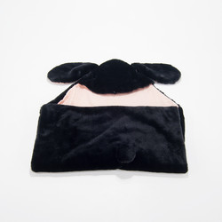 hooded blanket (selimut topi bayi) - Bunny