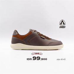 Aerostreet 40-43 Arthur Coklat Tua - Sepatu Sneakers Casual Pria