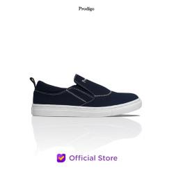 PRODIGO * Sepatu Sneaker Slip on Pria Baduy Hitam