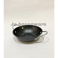 Kuali teflon hitam wok kuping mini wajan anti lengket premium G15-16