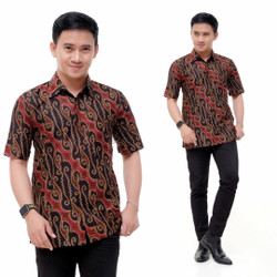 Hem Batik Pria Terbaru Motif Liris