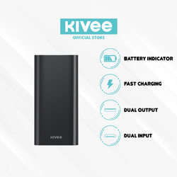 KIVEE Power Bank Portable Fast Charging Dual USB Port 2.1A PT68P
