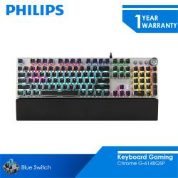 Philips Keyboard Gaming Mechanical Chrome SPK8614BQSP