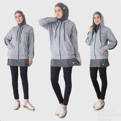 HITJAB- Jaket Olahraga Wanita Sport Jacket Sweatshirt Untuk Lari Senam